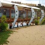 Ansicht des Restaurant  von der Strandpromenade aus