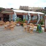 Das Restaurant an der Strandpromenade unterhalb des früheren Klosters