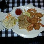 My Combination Platter of Butterfly Shrimp and Fried Oysters
