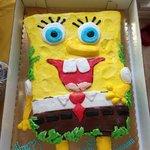 Spongebob Cake for my son's birthday