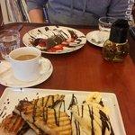 Chocolate Peanut Butter Panini + Dark Chocolate Crepes