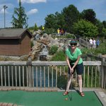 Water fall adds appeal to the mini golf course