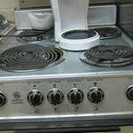 Only outlet in kitchen is above stove