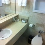 Bathroom with welcome kit