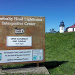 Sign to the Admiralty Head Lighthouse - March 31, 2013