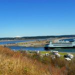 View from Fort Casey of Port Townsend ferry - 3-31-2013