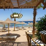 view from beach bar