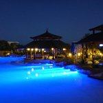 the pools at night