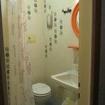 Kleines aber sehr sauberes Badezimmer