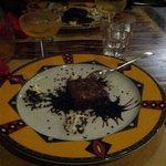 dolce tortino al cioccolato caldo