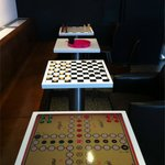 game tables in the lounge
