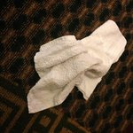 dirty washcloths I inherited from the previous guest.