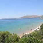 View of the beach from Philosophia Restaurant