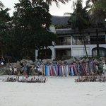 Local vendors on the beach