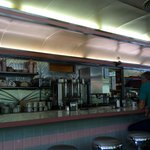 the diner bar