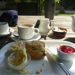 My cream tea before I scoffed the rest!
