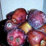 Spoiled apples at breakfast