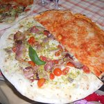 mezza pizza Capuozzo/mezza margherita