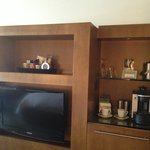 TV and mini bar