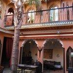 The Riad inside