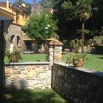 Vista dal giardino privato della suite