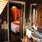 Really nice bathroom with authentic wooden doors