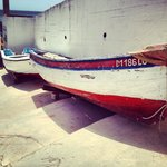 Fishingboats in the village