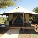 The actual lodge, luxurious tented camp