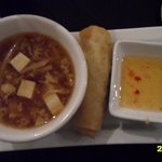 delicious soup & spring roll