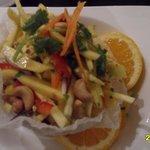 mango salad , looks great but I didn't like the coriander in it