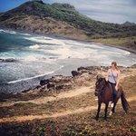 Horseback riding on the island
