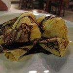 Pancakes with ice cream