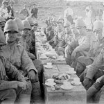 Soldiers enjoying a Cup of Tea in the Boer War