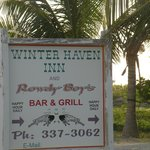 Sign at the entrace to the wonderful Winter Haven/Rowdy Boys