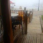vue de la terrasse - brume