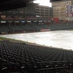 Autozone Park during a rainstorm before a game 7/6/13