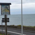 Trecastell Hotel Sign and Sea