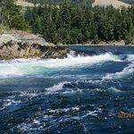 Skookumchuck rapids from Zodiac