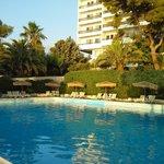 la piscine et l'hôtel