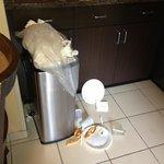 Trash in breakfast room