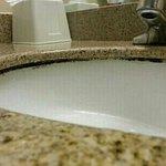 Mold around the sink