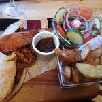 Delicious pulled pork pitta