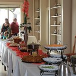 Food table at the Reception