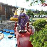This bridge sits near a Japan-themed hole.