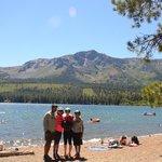 Us in front of Fallen Leaf Lake