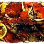 fresh spicy crab dinner