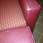 Chair in room could have come from a flea market