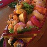 Mori A sushi boat.  No wasabi.