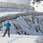 Skate skiing at SnowFarm