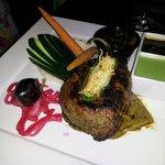 """""""Three Salsas"""" Steak"""